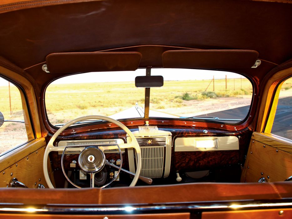 1941 Packard 110 StationWagon retro interior wallpaper