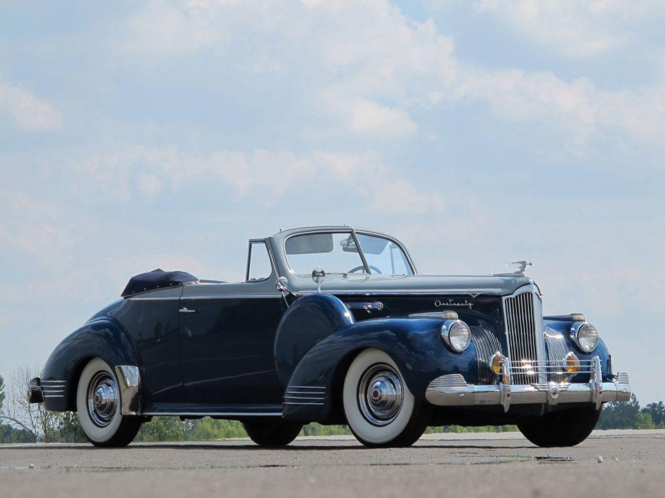 1941 Packard 120 Convertible Coupe retro wallpaper