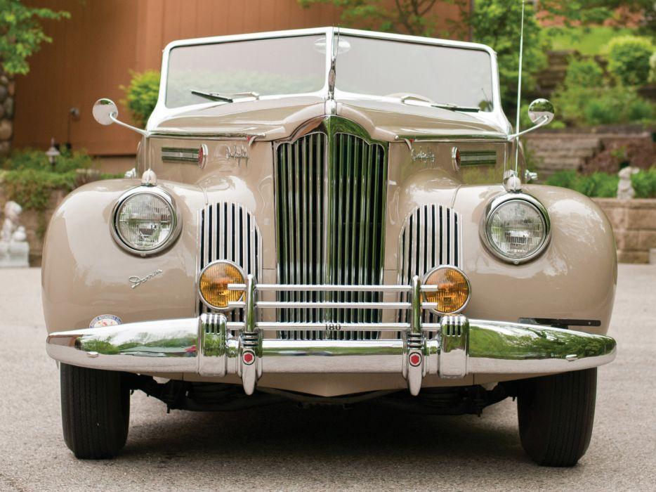 1941 Packard 180 Super Eight Convertible Victoria luxury retro      h wallpaper