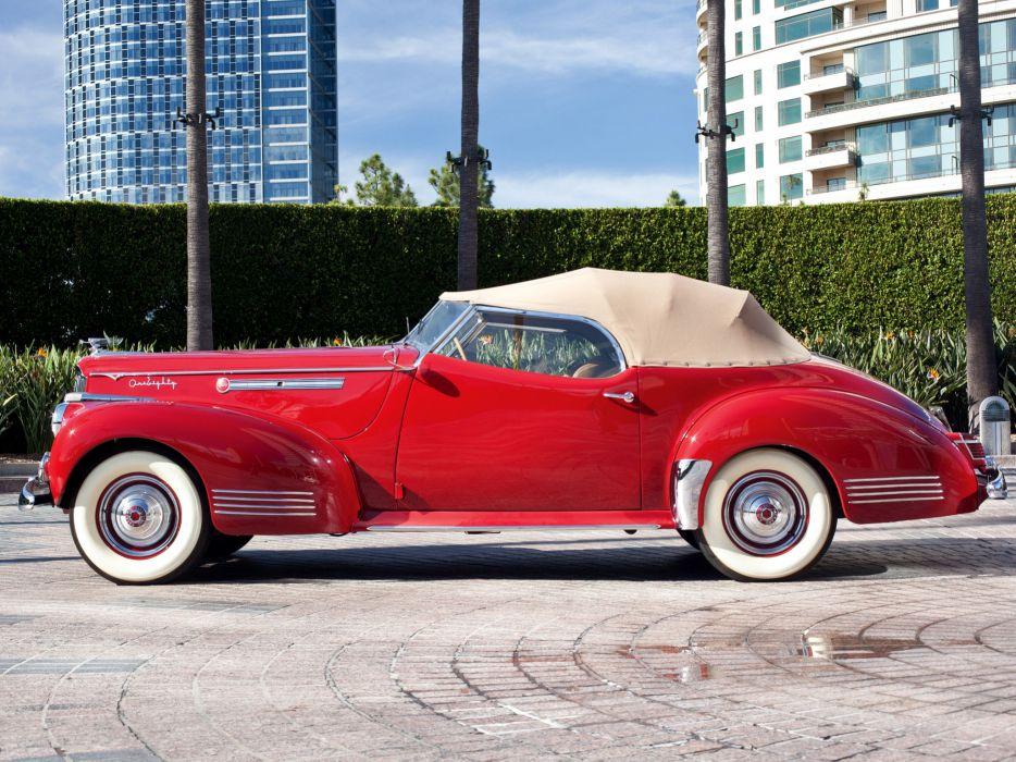 1941 Packard 180 Super Eight Convertible Victoria luxury retro    fd wallpaper