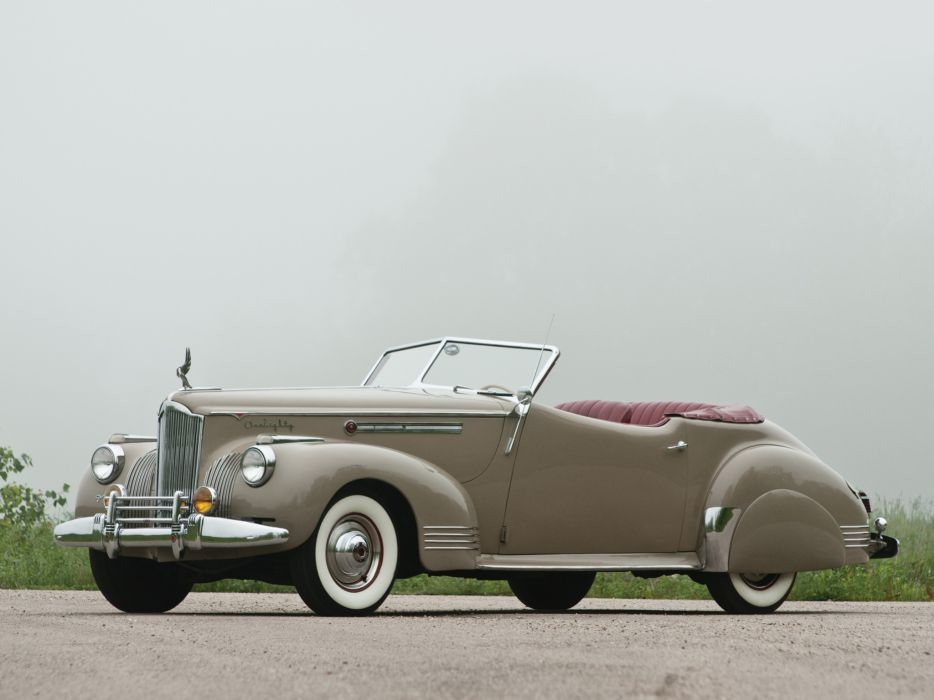 1941 Packard 180 Super Eight Convertible Victoria luxury retro     f wallpaper