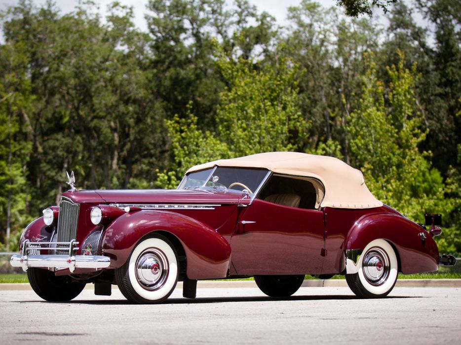 1941 Packard 180 Super Eight Convertible Victoria luxury retro   gl wallpaper