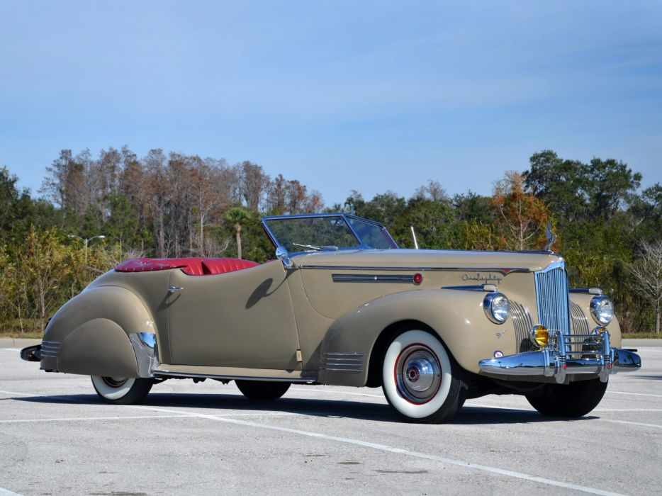 1941 Packard 180 Super Eight Convertible Victoria luxury retro   h wallpaper