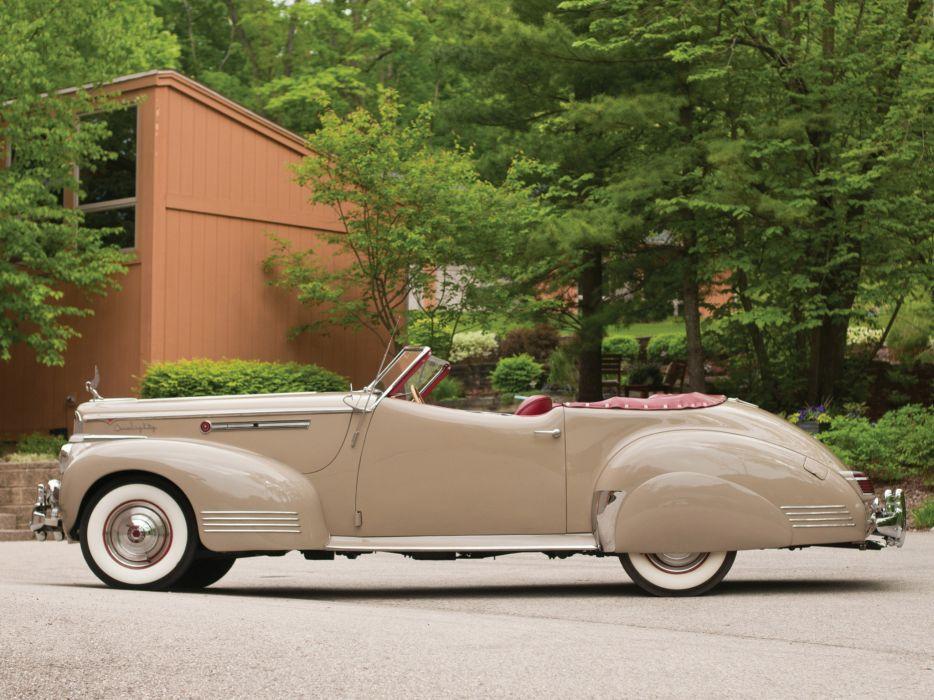1941 Packard 180 Super Eight Convertible Victoria luxury retro f wallpaper