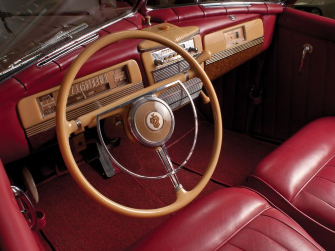 1941 Packard 180 Super Eight Convertible Victoria luxury retro interior wallpaper