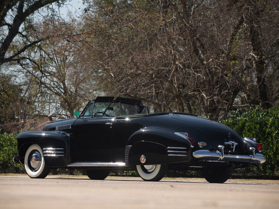 1941Cadillac SixtyTwo Convertible Coupe Fleetwood retro luxury f wallpaper