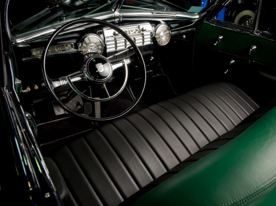1941Cadillac SixtyTwo Convertible Coupe Fleetwood retro luxury interior wallpaper