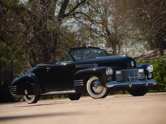 1941Cadillac SixtyTwo Convertible Coupe Fleetwood retro luxury wallpaper