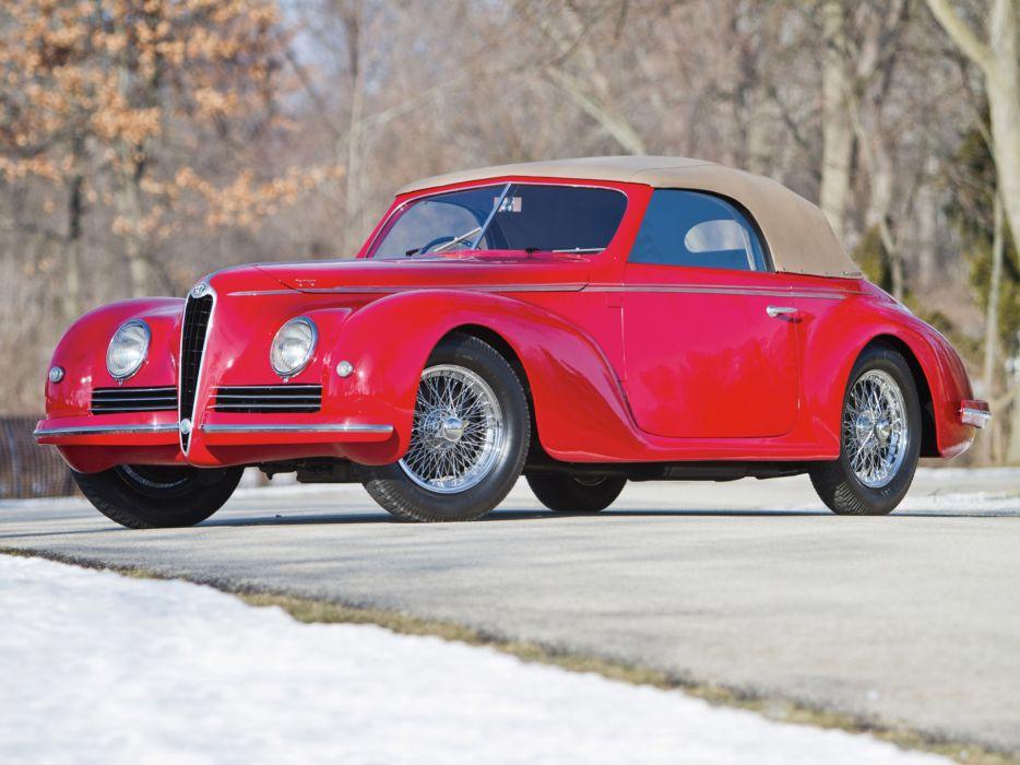 1942 Alfa Romeo 6-C 2500 Sport Cabriolet retro   f wallpaper