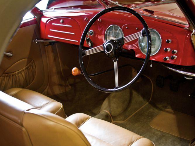 1942 Alfa Romeo 6-C 2500 Sport Cabriolet retro interior wallpaper