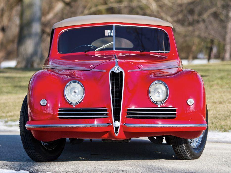 1942 Alfa Romeo 6-C 2500 Sport Cabriolet retro q wallpaper