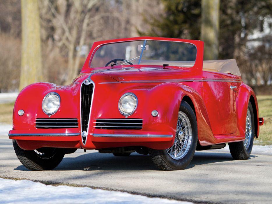 1942 Alfa Romeo 6-C 2500 Sport Cabriolet retro wallpaper