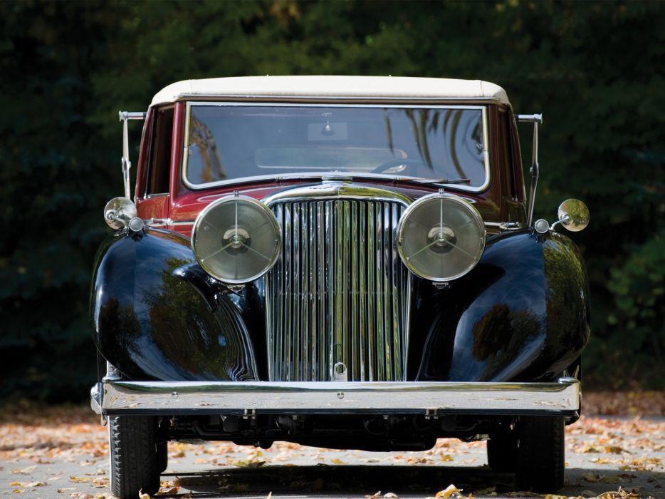 1945 Jaguar Mark IV Drophead Coupe retro luxury  f wallpaper