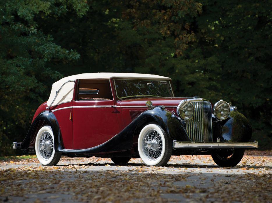 1945 Jaguar Mark IV Drophead Coupe retro luxury wallpaper