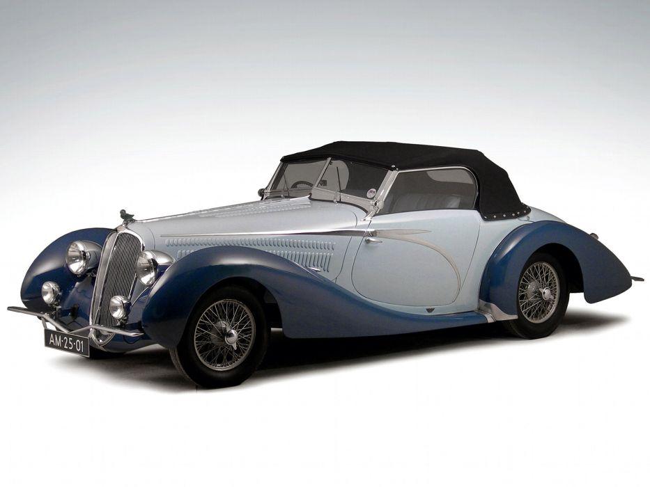 1946 Delahaye 135 M Cabriolet retro   f wallpaper
