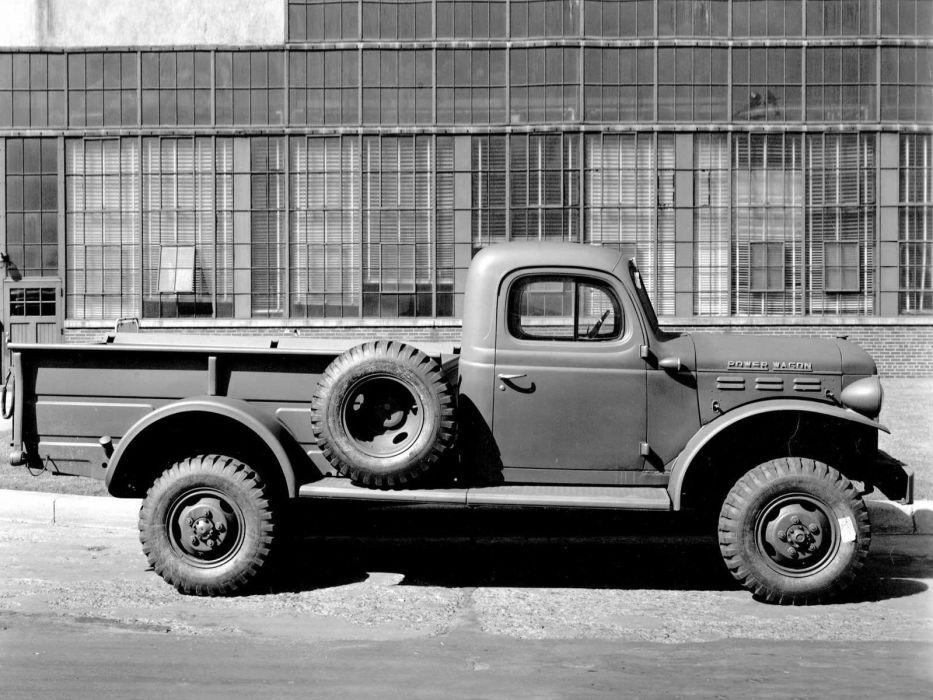 1946 Dodge Power Wagon retro 4x4 military truck wallpaper