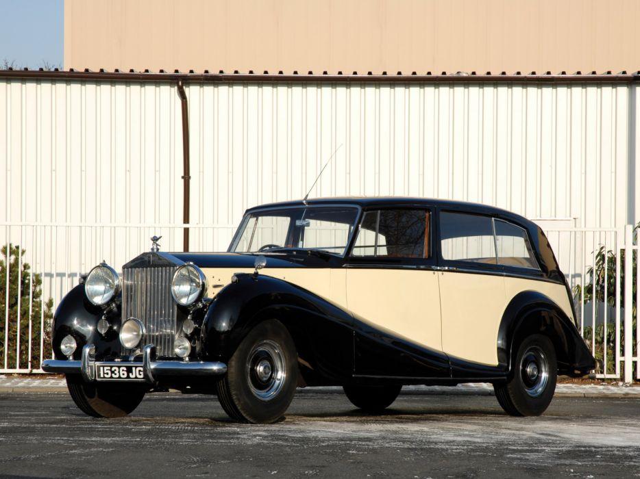 1946 Rolls Royce Wraith Touring Limousine retro luxury wallpaper