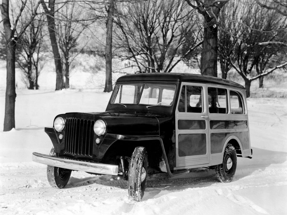 1946 Willys Jeep Wagon retro 4x4 0ffroad wallpaper