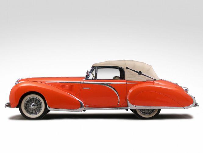 1947 Delahaye 135 M Drophead Coupe retro luxury f wallpaper