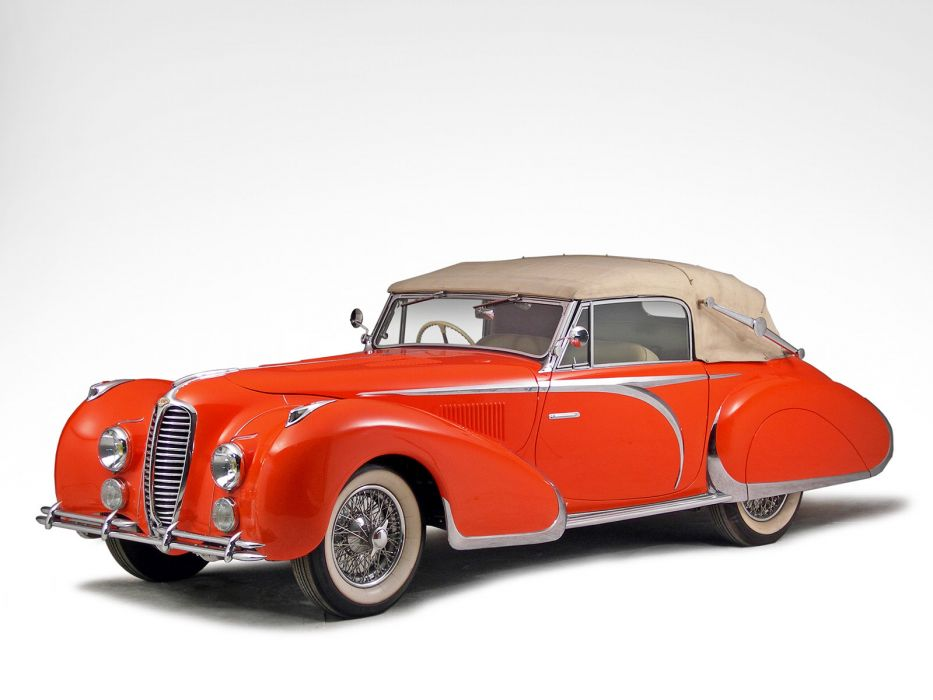 1947 Delahaye 135 M Drophead Coupe retro luxury   f wallpaper