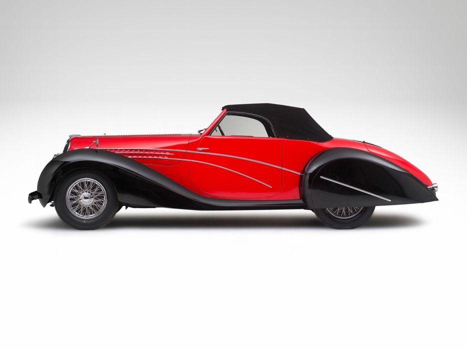 1947 Delahaye 135 M-S Cabriolet retro   f wallpaper