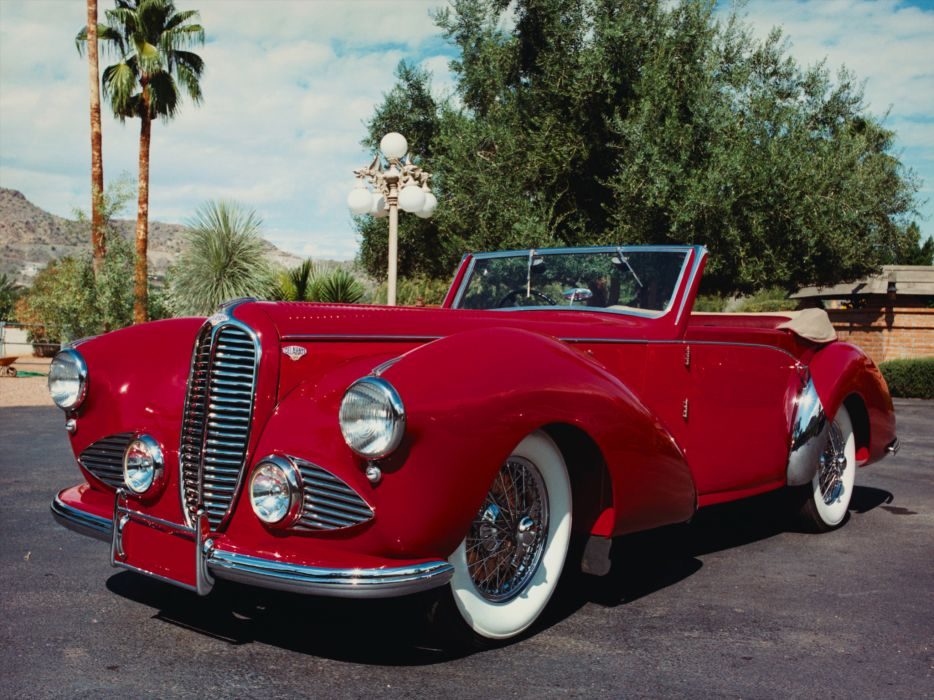 1947 Delahaye 135 Vanden Plas Cabriolet luxury retro wallpaper