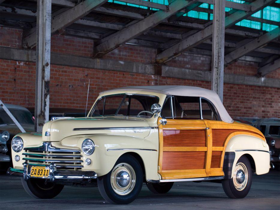 1947 Ford Super Deluxe Sportsman Convertible retro     f wallpaper