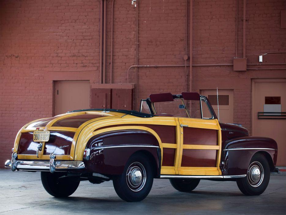 1947 Ford Super Deluxe Sportsman Convertible retro    g wallpaper