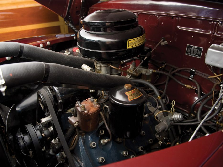 1947 Ford Super Deluxe Sportsman Convertible retro engine engines wallpaper