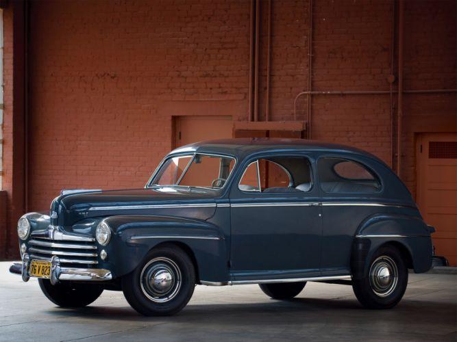 1947 Ford Super Deluxe Tudor Sedan retro wallpaper