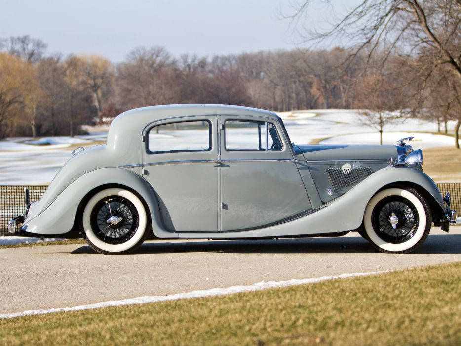1947 Jaguar Mark IV Saloon I-V retro luxury f wallpaper