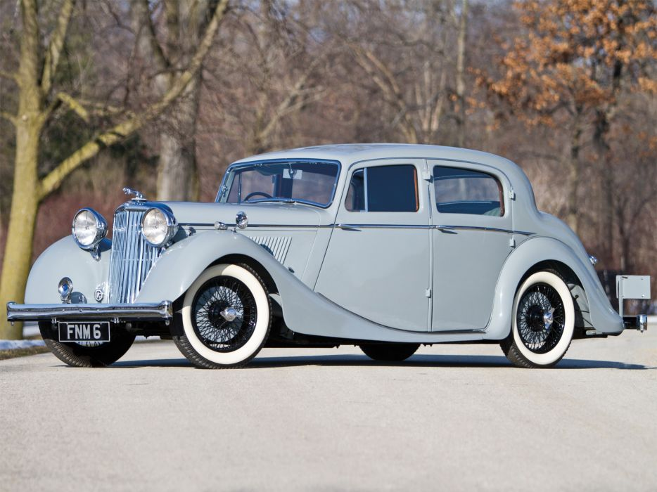 1947 Jaguar Mark IV Saloon I-V retro luxury wallpaper