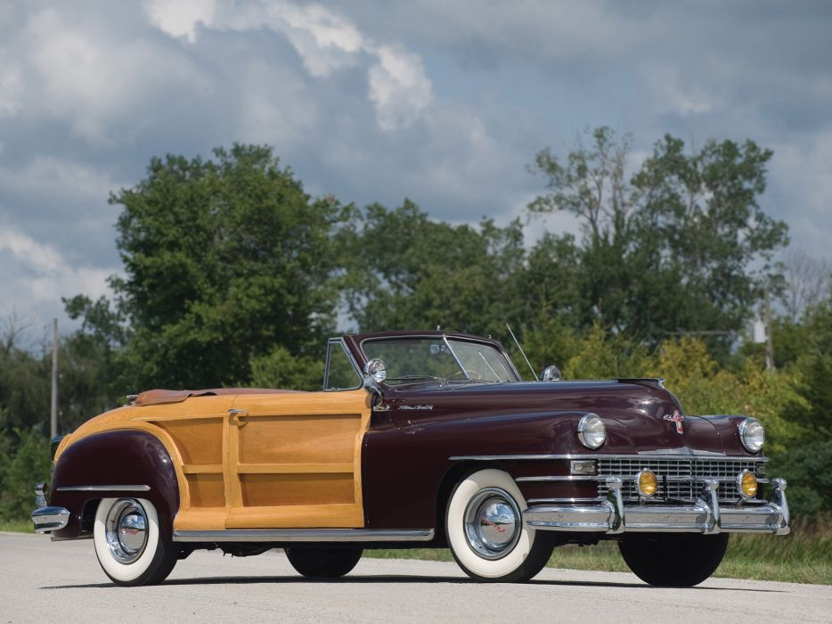 1948 Chrysler Town & Country Convertible retro wallpaper