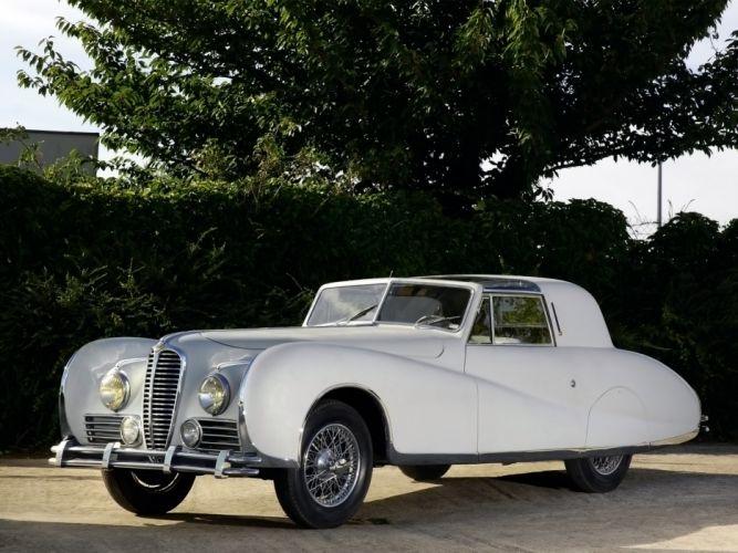1948 Delahaye 175S Coupe DeVille Aerodynamic luxury retro wallpaper