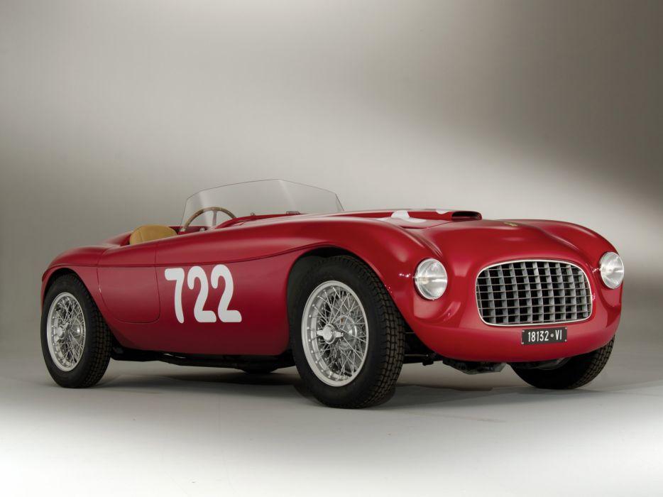 1948 Ferrari 166 Inter Spider Corsa retro race racing supercar supercars wallpaper