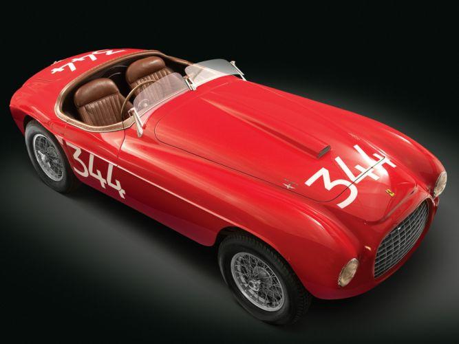 1948 Ferrari 166 MM Touring Barchetta retro supercar supercars d wallpaper