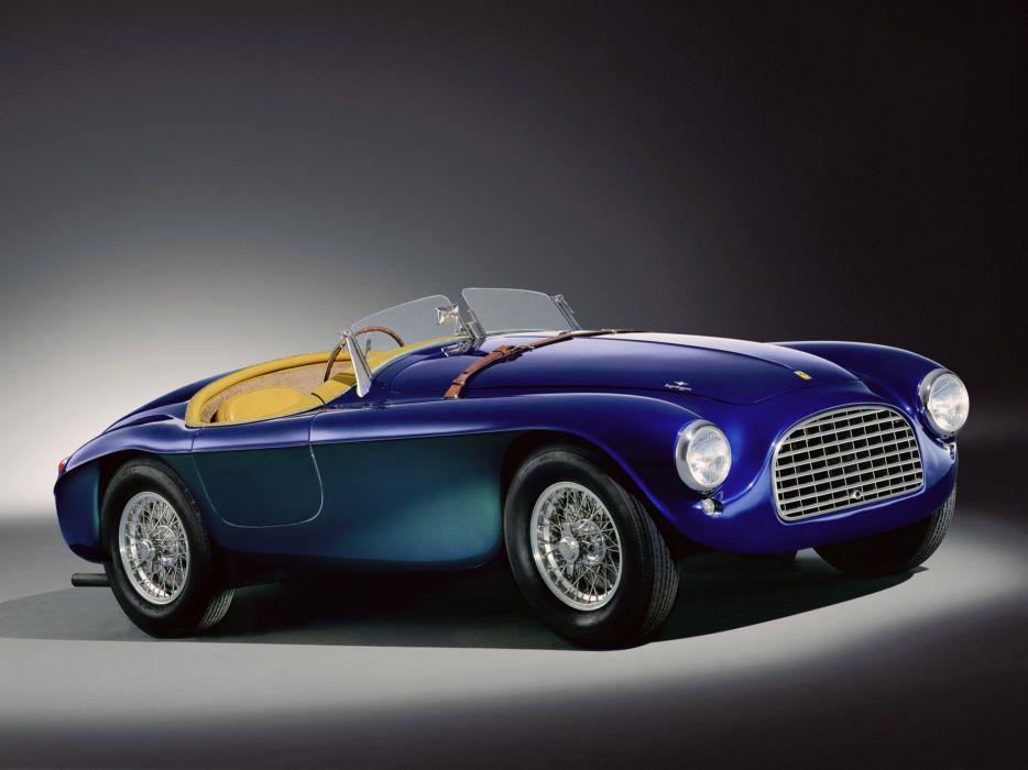 1948 Ferrari 166 MM Touring Barchetta retro supercar supercars  ds wallpaper