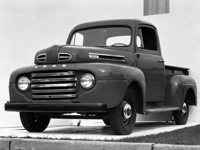 1948 Ford F-1 Pickup truck retro wallpaper