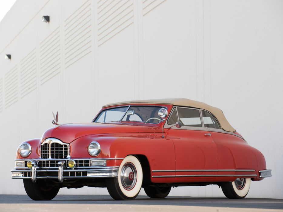 1948 Packard Custom Eight Convertible Coupe luxury retro wallpaper