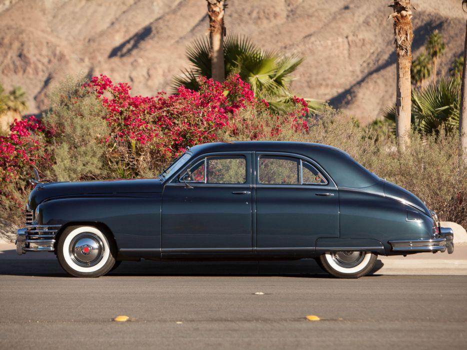 1948 Packard Deluxe Eight Touring Sedan retro luxury      f wallpaper