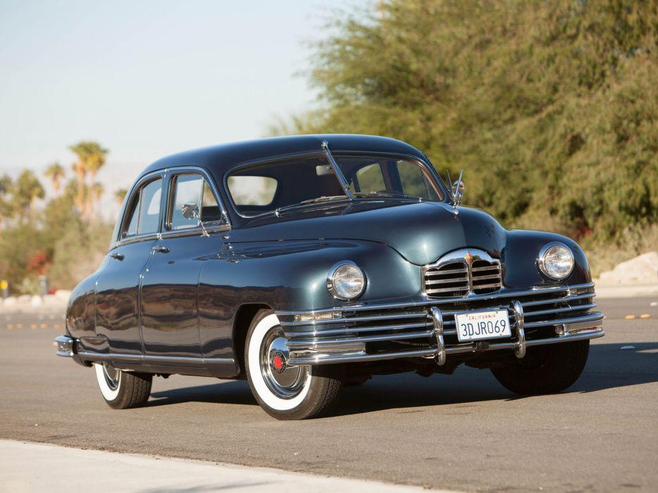 1948 Packard Deluxe Eight Touring Sedan retro luxury wallpaper