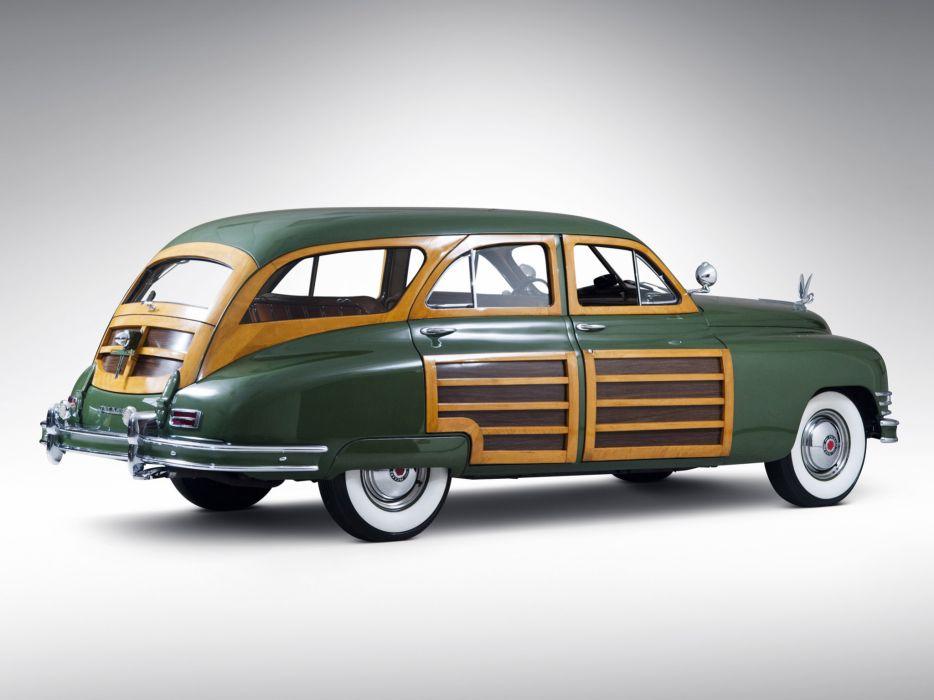 1948 Packard Eight Station Sedan retro luxury      ff wallpaper