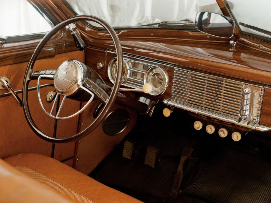 1948 Packard Eight Station Sedan retro luxury interior      d wallpaper