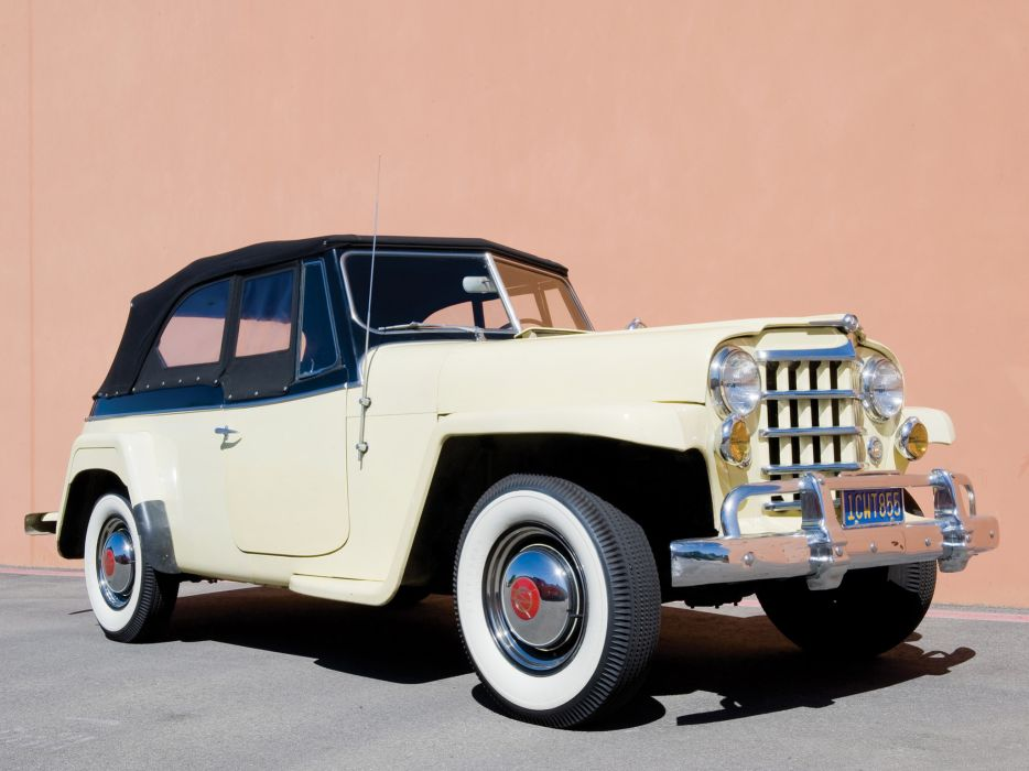 1948 Willys Jeepster 4x4 jeep retro wallpaper