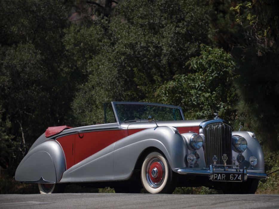 1949 Bentley Mark VI Drophead Coupe v-i retro luxury     d wallpaper