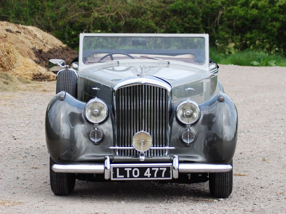 1949 Bentley Mark VI Drophead Coupe v-i retro luxury    d wallpaper
