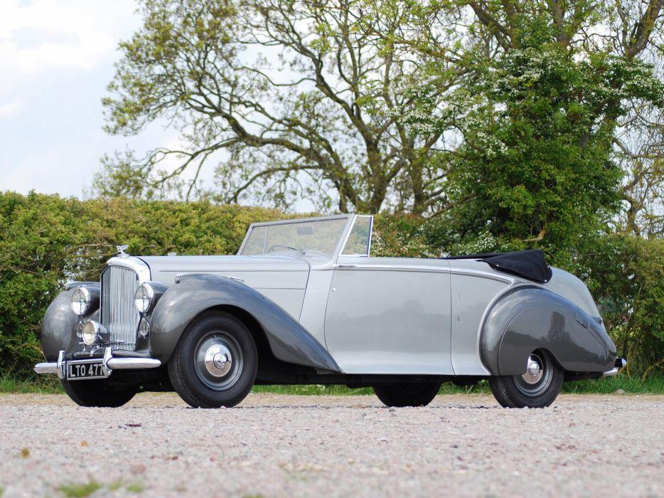 1949 Bentley Mark VI Drophead Coupe v-i retro luxury    ds wallpaper