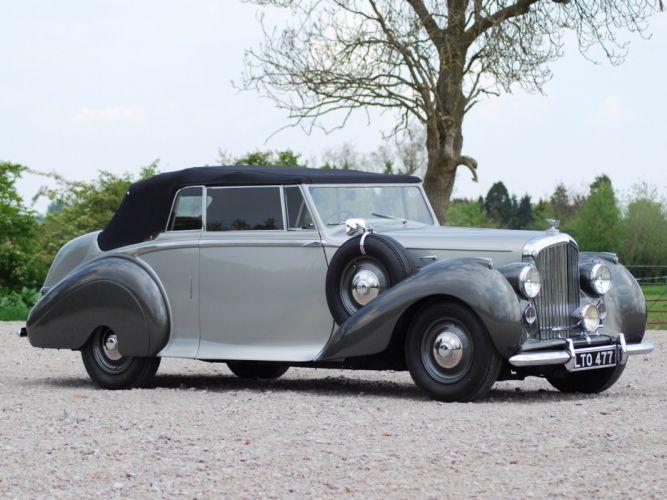 1949 Bentley Mark VI Drophead Coupe v-i retro luxury wallpaper