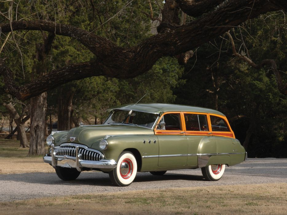 1949 Buick Super Estate Wagon stationwagon retro wallpaper