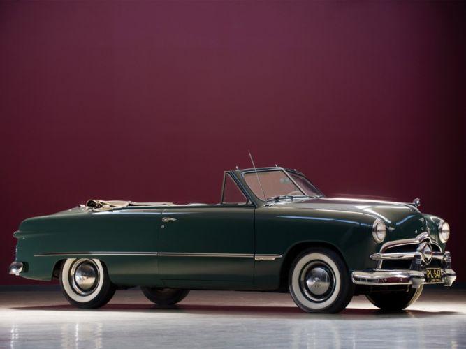 1949 Ford Custom Convertible retro wallpaper